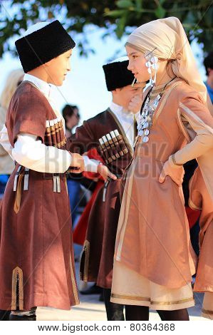 Turkish Children In National Costumes
