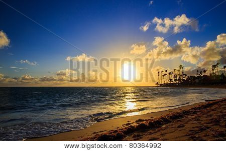 Sunrise Over Caribbean Sea