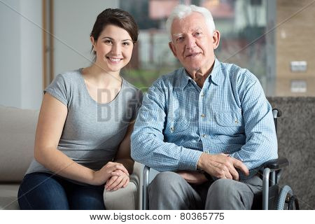 Caretaker And Elderly Man