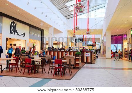 Moscow, Russia, December, 28, 2014: Cafe in the shopping center Mega on December, 28, 2014