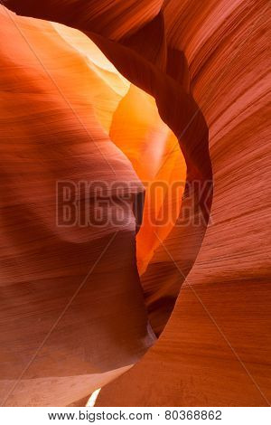 Sandstone Waves And Colors Inside Iconic Antelope Canyon