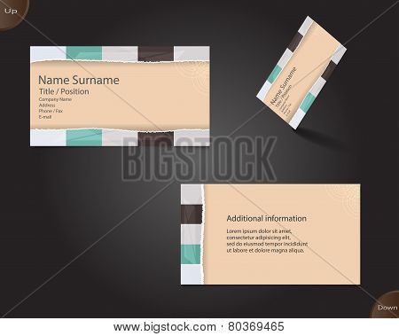New Creamy Business Card Layout