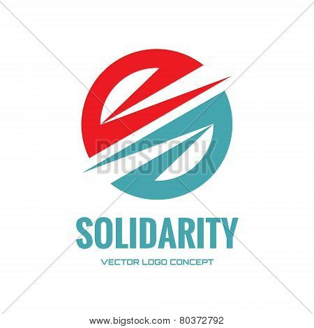 Solidarity - abstract vector logo concept illustration. Abstract shape logo. Abstract icon design el