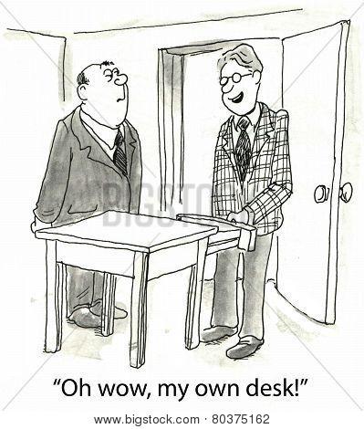 His Own Desk