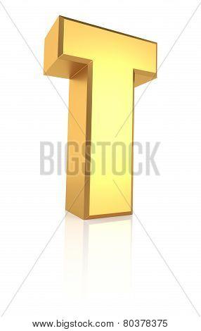 3D Letter T