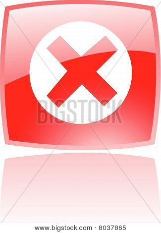 Glossy red error icon