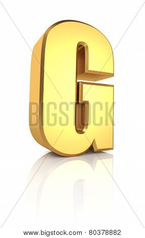3D Letter G