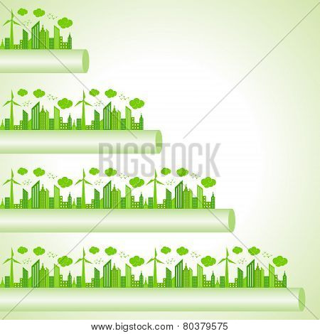 Ecology Concept - eco cityscape stock vector