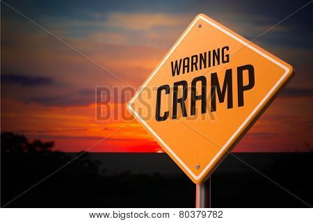 Cramp on Warning Road Sign.