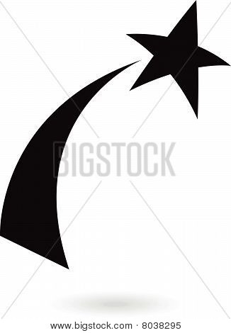 Black Shooting Star Icon