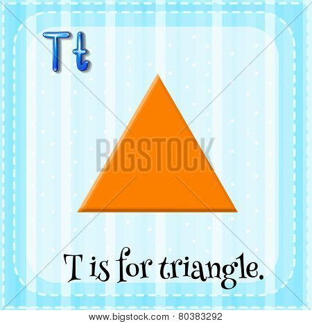 Illustration of a letter T is for triangle