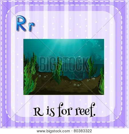 Illustration of a letter r is for reef