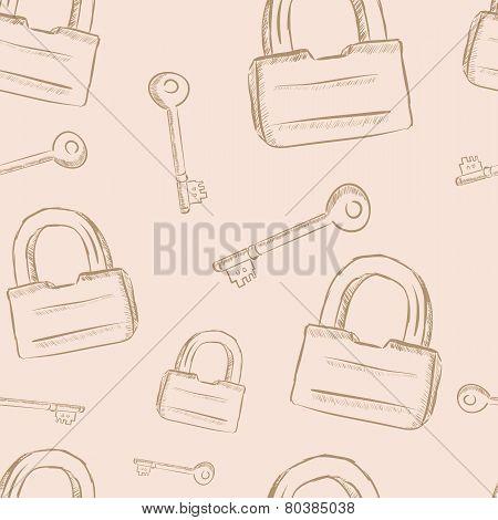 Vintage keys and locks