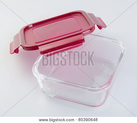Food Containers On The Background. Glass Food Containers On The Background