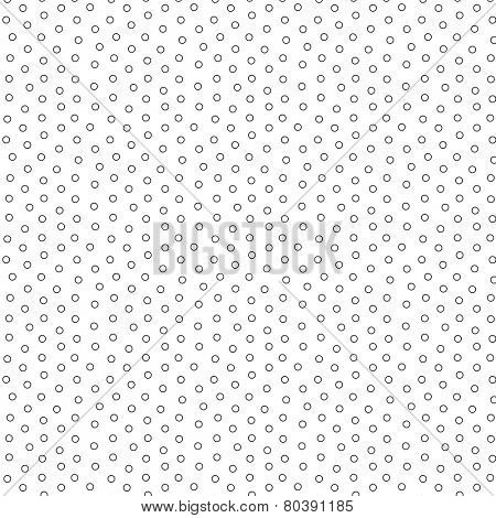 A hollow tiny bullets vector pattern