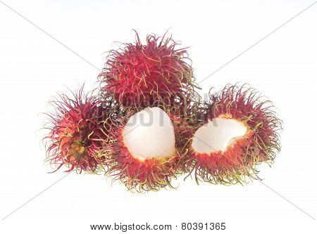 Rambutan On The Background. Rambutan On The Background