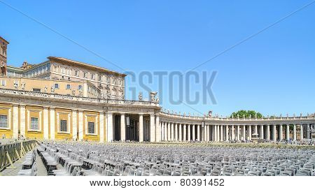 On The Square Of Saint Peter. Vatican