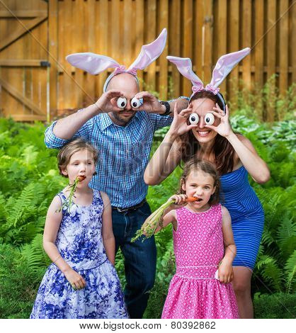 Funny Family Easter Portrait