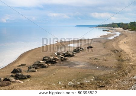 Morning Landscape On A Beach Of Baltic Sea