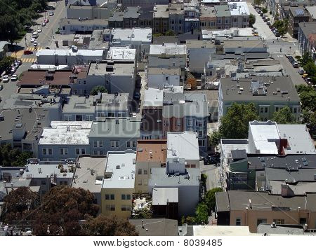 North Beach San Francisco Roof Tops