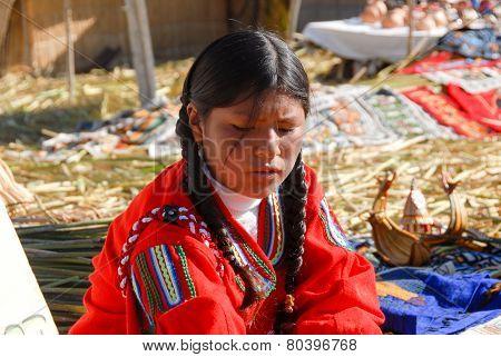 Young Peruvian Girl, Lake Titicaca
