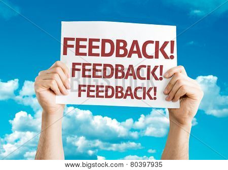 Feedback card with sky background