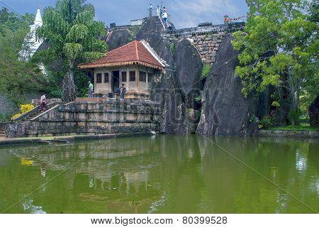 Anuradhapura-circa December 2014: Isurumuni Raja Maha Viharaya in Anuradhapura circa December 2014