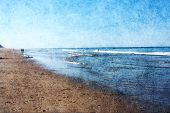 stock photo of cape-cod  - Beach in Wellfleet Massachusetts on Cape Cod - JPG