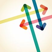 image of lap  - a colourful over lapping arrow background image - JPG