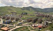 stock photo of ulaanbaatar  - New construction of buildings in the capital city Ulaanbaatar - JPG