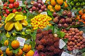 Постер, плакат: Exotic fruits at the Boqueria