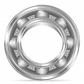 pic of ball bearing  - Ball bearing on a white background - JPG