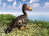 stock photo of terrorism  - Computer generated 3D illustration with the prehistoric Terror Bird Kelenken - JPG