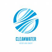 pic of logo  - Clean water logo concept illustration - JPG