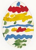 Постер, плакат: Picture Of Painted Egg Made By Preschool Child