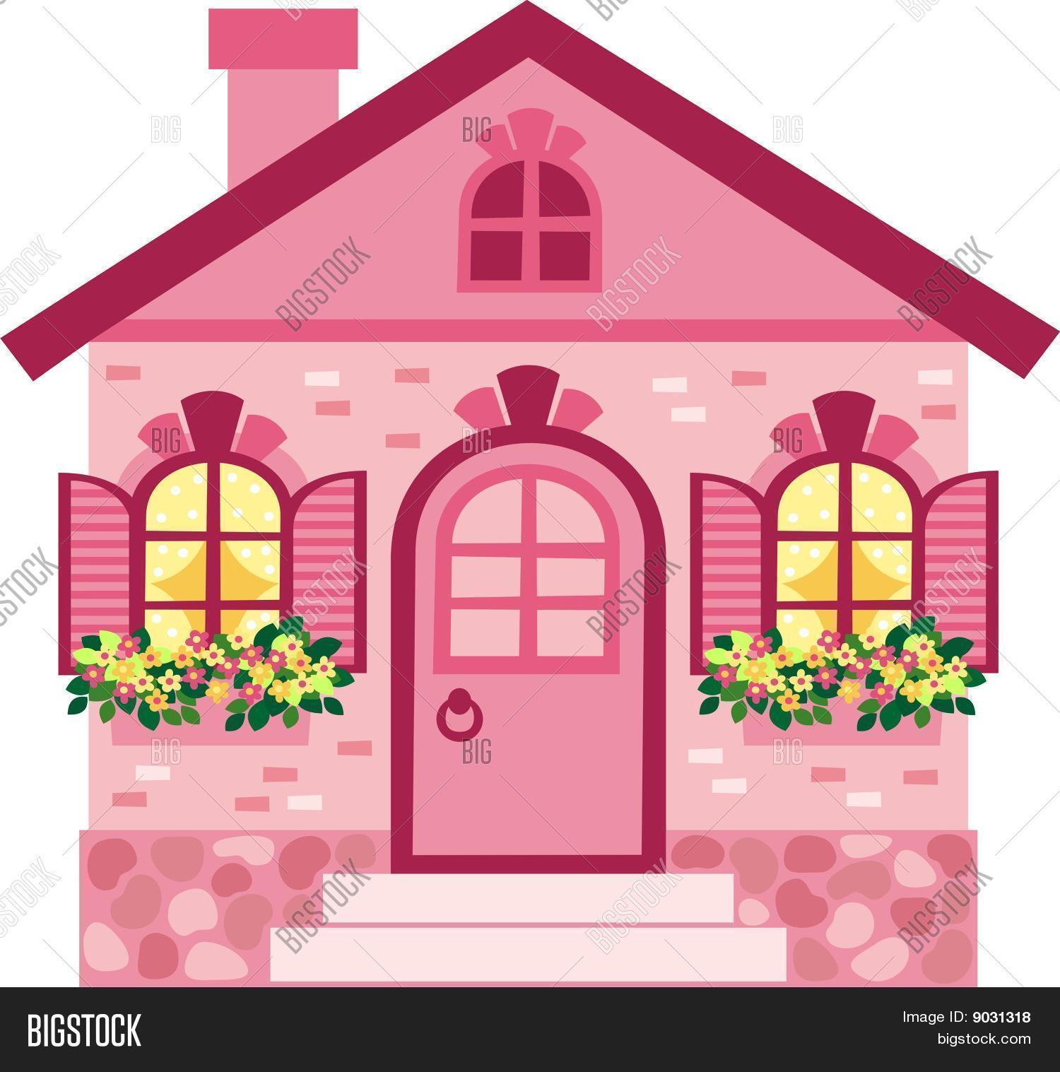 Pink House Vector Amp Photo Bigstock