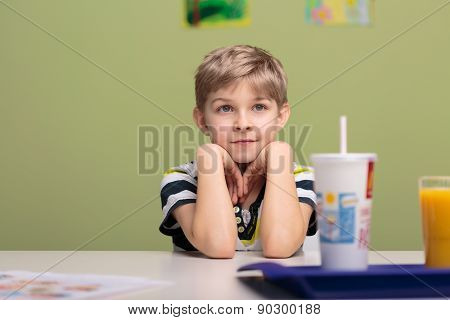 Lunch Break In Classroom