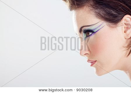 profile of fashion models face