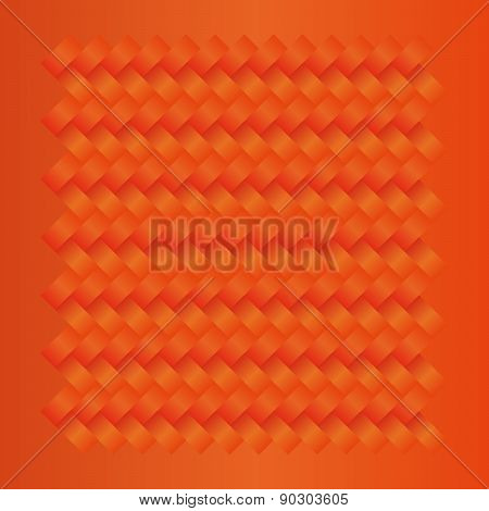 Orange Seamless Weave Fabric Pattern Background
