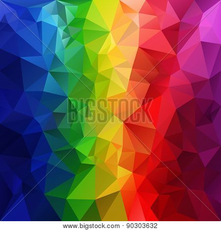 Vector Polygonal Background Pattern - Triangular Design In Full Spectru