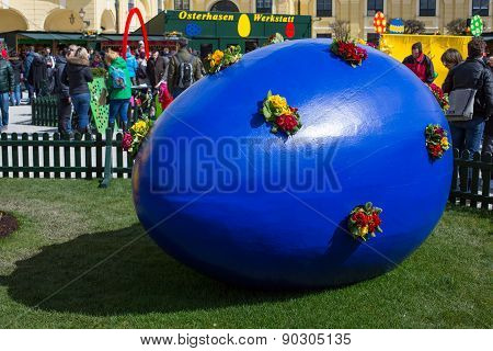 Large Blue Easter Egg At Vienna Holiday Market