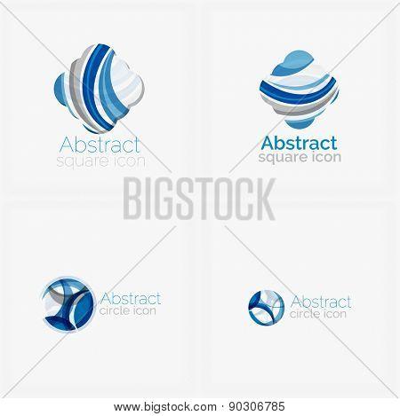 Circle abstract shape logo. Vector illustration