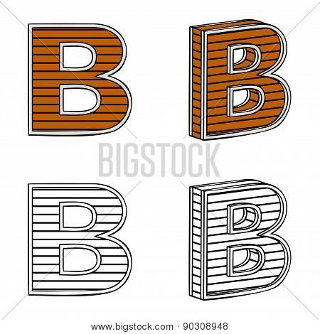 Letter B (a Block Of Wood)