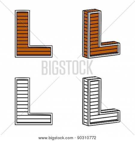 Letter L (a Block Of Wood)