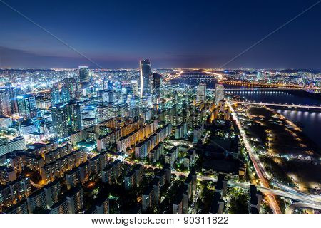 Seoul City and Downtown skyline
