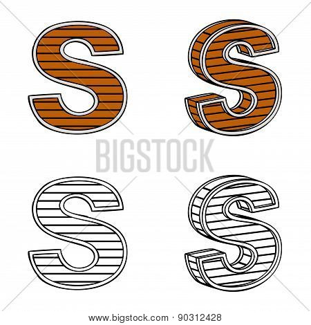 Letter S (a Block Of Wood)