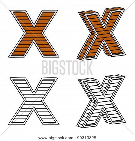 Letter X (a Block Of Wood)