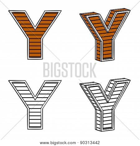 Letter Y (a Block Of Wood)