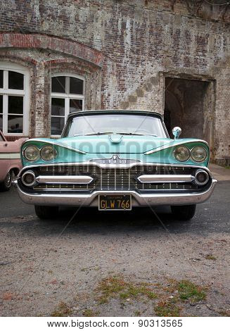 Stade, Germany - may 2, 2015: 1959 Dodge custom Royal at MOPAR Spring Fling annual meeting for vintage automobiles built by Chrysler Corporation