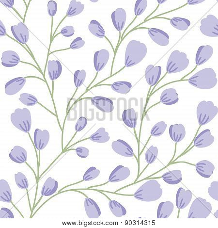 Floral seamless pattern. Beautiful vector hand drawn texture. Romantic background for web pages, wed